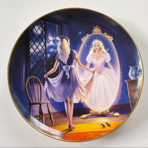 Cinderella Collector Plate Reflection of a Dream
